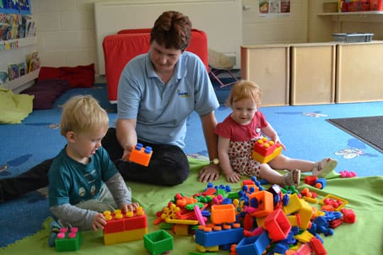 we have great fun with our two year olds in the imps room after breakfast we have free time to explore the toys and play with our friends learning social